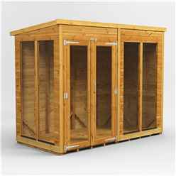 8ft X 4ft Premium Tongue And Groove Pent Summerhouse - Double Door - 12mm Tongue And Groove Floor And Roof