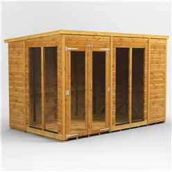 10ft X 6ft Premium Tongue And Groove Pent Summerhouse - Double Doors - 12mm Tongue And Groove Floor And Roof