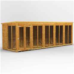 20ft X 6ft Premium Tongue And Groove Pent Summerhouse - Double Doors - 12mm Tongue And Groove Floor And Roof