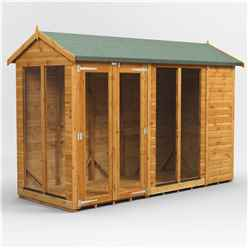 10ft X 6ft Premium Tongue And Groove Apex Summerhouse - Double Doors - 12mm Tongue And Groove Floor And Roof