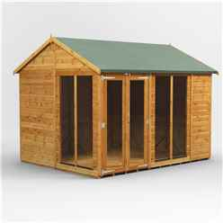 10ft X 8ft Premium Tongue And Groove Apex Summerhouse - Double Doors - 12mm Tongue And Groove Floor And Roof