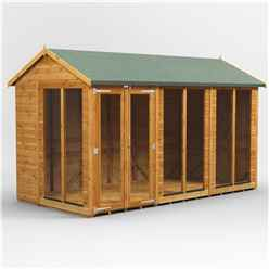 12ft X 8ft Premium Tongue And Groove Apex Summerhouse - Double Doors - 12mm Tongue And Groove Floor And Roof