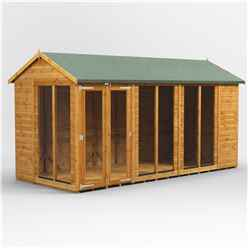 14ft X 6ft Premium Tongue And Groove Apex Summerhouse - Double Doors - 12mm Tongue And Groove Floor And Roof