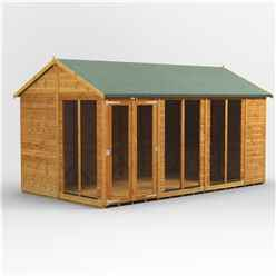 14ft X 8ft Premium Tongue And Groove Apex Summerhouse - Double Doors - 12mm Tongue And Groove Floor And Roof
