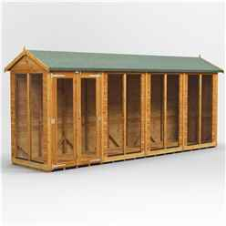 16ft X 4ft Premium Tongue And Groove Apex Summerhouse - Double Doors - 12mm Tongue And Groove Floor And Roof