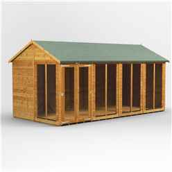 16ft X 8ft Premium Tongue And Groove Apex Summerhouse - Double Doors - 12mm Tongue And Groove Floor And Roof