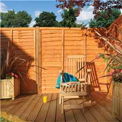 6 x 6 Traditional Lap Fence Panel Dip Treated - Minimum Order of 3 Panels