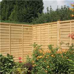6 x 4 Traditional Lap Fence Panel Pressure Treated - Minimum Order of 3 Panels