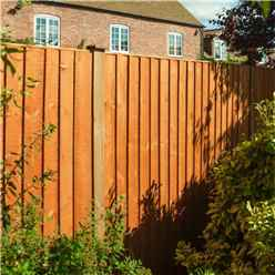 6 x 4 Vertical Board Fence Panel Dip Treated - Minimum Order of 3 Panels
