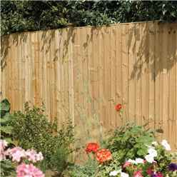 6 x 3 Vertical Board Fence Panel Pressure Treated - Minimum Order of 3 Panels