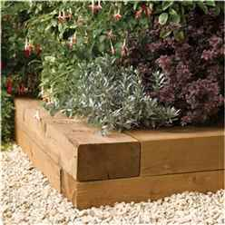 0.9m Pressure Treated Timber Sleepers (Pack of 2)