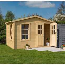 1.9mm X 3.1m Garden Studio Log Cabin - 19mm Wall Thickness