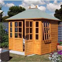 7.2ft x 8.7ft Apex Clarendon Summerhouse (Tongue and Groove floor)