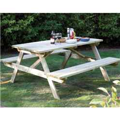 6ft Pressure Treated Picnic Bench