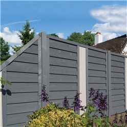 6 x 3 Angled Painted Grey Screen Panel with Solid Infill - Minimum Order of 3 Panels