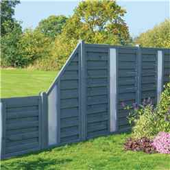 3 x 6 Painted Grey Screen Panel with Translucent Infill - Minimum Order of 3 Panels