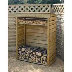 "3'7"" x 1'8"" Rowlinson Small Log Store"