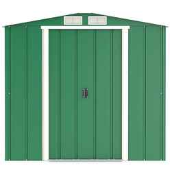 6ft x 4ft Value Apex Metal Shed - Green (2.01m x 1.22m)