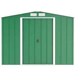 8ft x 8ft Value Apex Metal Shed - Green (2.62m x 2.42m)