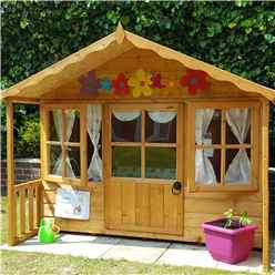 "6ft x 5ft 6"" (1.79m x 1.19m) - Stowe Playhouse - 12mm Tongue & Groove - 2 Opening Windows - Single Door - Apex Roof (CORE)"