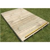 Timber Floor Kit 6ft x 4ft (Madrid) - Low Pent